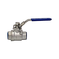 """Ball Valve Lever Handle F&F 2 Piece Stainless 2 1/2"""""""
